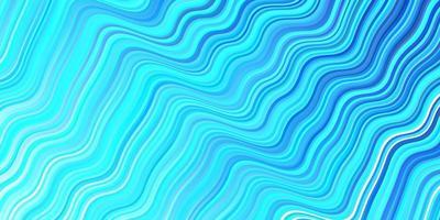 lichtblauwe vectorachtergrond met gebogen lijnen.