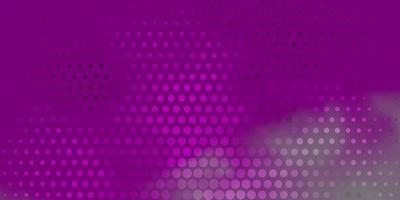lichtpaars, roze vectorpatroon met bollen.