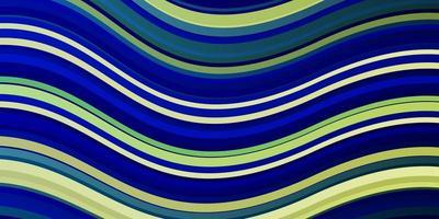 lichtblauwe, groene vectorlay-out met wrange lijnen. vector