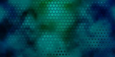 lichtblauwe, groene vectortextuur met schijven.
