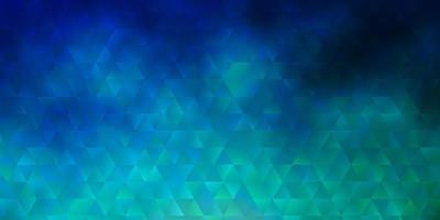 lichtblauwe, groene vectorachtergrond met veelhoekige stijl. vector