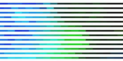 lichtblauwe, groene vectortextuur met lijnen.