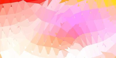 lichtroze, geel vector driehoek mozaïek patroon.
