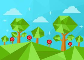 Laag Poly Forest Vector