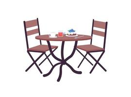 café tafel met bestelling egale kleur vector-object vector