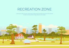 recreatie zone banner platte vector sjabloon