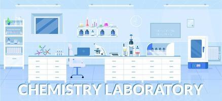 scheikunde laboratorium banner platte vector sjabloon