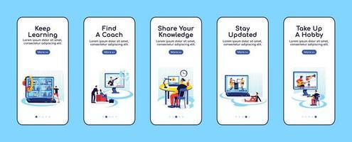 online onderwijs mobiele app-scherm vector