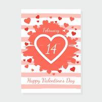 Valentijnsdag kaart Vector