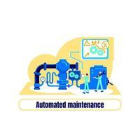 geautomatiseerde machines plat concept vector