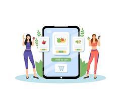 gezonde voedingsplan platte concept vectorillustratie