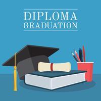 diploma afstuderen set vector
