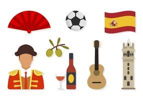 Platte Spanje vectoren