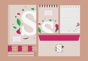 Sweet Pea Illustration. S-symbool.