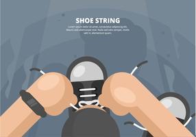 Shoestring Illustratie vector