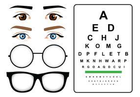 Vrouwelijke ogen test vector