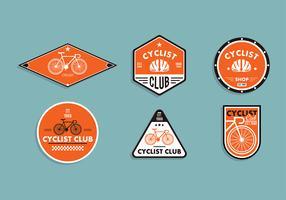 Bicicleta-embleem Gratis Vector