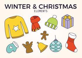winter kerst elementen