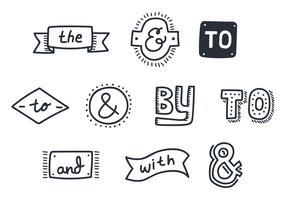 ampersand vintage doodle vector