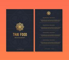 Thais eten restaurant menu sjabloon