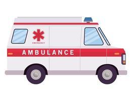 ambulance paramedicus auto zijaanzicht vector ontwerp