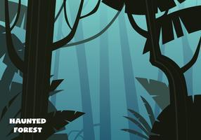 spookachtige bosillustratie vector