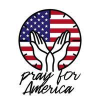 bid voor de VS, zwarte levens zijn belangrijk. vector stock illustratie.
