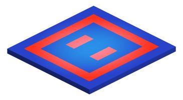 perspectief isometrische karate judo taekwondo tapijt mat tatami vectorillustratie op witte achtergrond vector