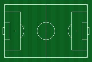 groen gras veld achtergrond. vector voetbal - voetbalveld. voorraad vectorillustratie