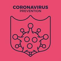immuun voor griepkiempictogram, virusbescherming, hygiëneschild, bacteriële preventie, dunne lijn websymbool op witte achtergrond