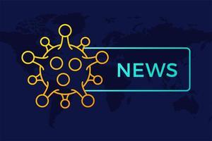 breaking news headline covid-19 of coronavirus in de wereld. coronavirus in wuhan vectorillustratie.