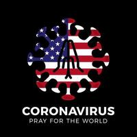 bid voor de VS, coronavirus of covid-19, 2019-ncov. vector stock illustratie.