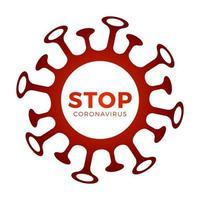 stop het coronavirus, de virusstam van mers-cov en het nieuwe coronavirus 2019-ncov. vector concept van gevaarlijk virus in China met medische cel.