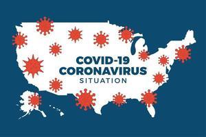 covid-19 usa kaart bevestigde gevallen, genezing, sterfgevallen rapporteren wereldwijd wereldwijd. coronavirusziekte 2019 situatie-update wereldwijd. amerika kaarten en nieuwskop tonen situatie en statistieken achtergrond