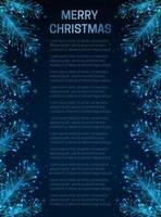 abstracte kerstkaart met fir tree branch