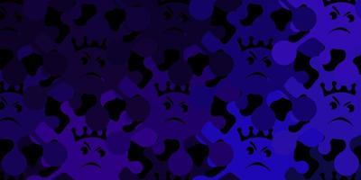 donkerpaarse vectortextuur met ziektesymbolen.
