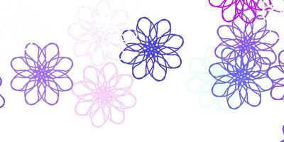 lichtblauwe, rode vector natuurlijke achtergrond met bloemen.