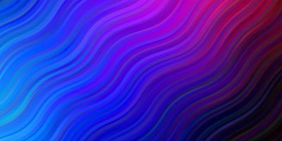 donkerblauw, rood vector sjabloon met curven.