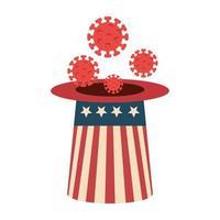 campagne voor preventie van hoge hoeden en coronavirus in de VS.