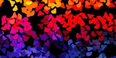 donkerroze, geel vectormalplaatje met abstracte vormen.