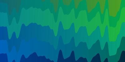 lichtblauw, groen vectorpatroon met krommen.