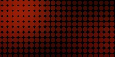 donkerrode vectorachtergrond met cirkels.