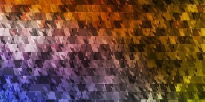 lichtblauwe, gele vectorlay-out met lijnen, driehoeken.