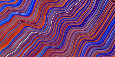 lichtblauwe, rode vectorachtergrond met krommen.