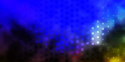 lichtblauw, groen vectorpatroon in vierkante stijl.