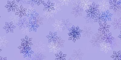 lichtroze, blauw vector natuurlijk kunstwerk met bloemen.