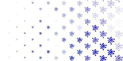 lichtpaars vectorpatroon met coronaviruselementen