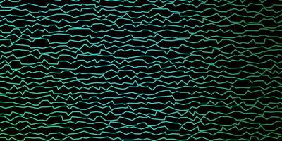 donkergroene vector sjabloon met gebogen lijnen.