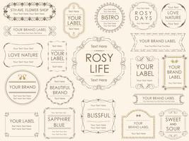 Een set van diverse labels. vector