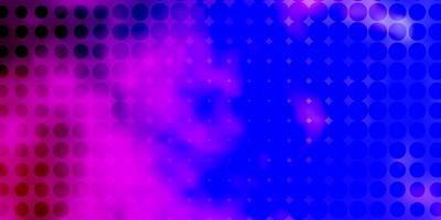 lichtpaarse, roze vector achtergrond met stippen.